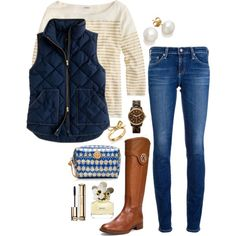 gold navy, created by the-southern-prep on Polyvore