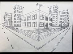 Two Point Escape Outdoor Design - Çizimler Architecture ideas 2 Point Perspective Drawing, Perspective Room, Architecture Concept Drawings, Architecture Sketchbook, Modern Architecture, Drawing Interior, Interior Design Sketches, Interior Design Courses Online, Drawing Techniques