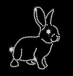 Rhinestone rabbit design