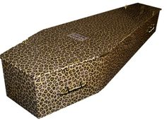 wow they really do make leopard EVERYTHING - Leopard coffin