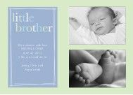 little brother birth announcement