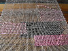 Dust Bunnies Under My Loom: Transparency Workshop - Study in transparency weaving.