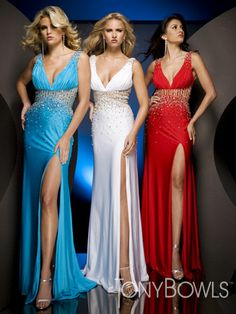 Colorful Sexy V Neck Floor Length With Rhinestone Evening Dress