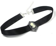Gothic Style Black Cameo Choker by hearttohearts on Etsy, $11.00