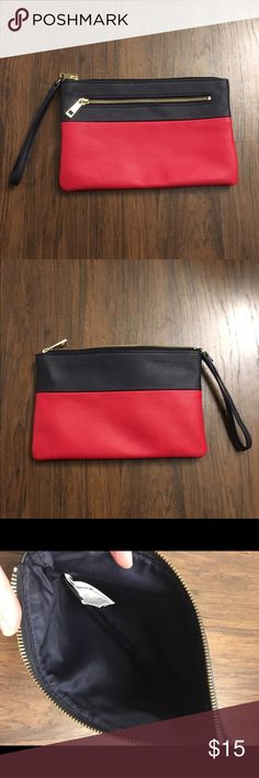 "Gap wristlet New without tags! Navy blue and red wristlet. 6 1/2"" x 10 GAP Bags Clutches & Wristlets"