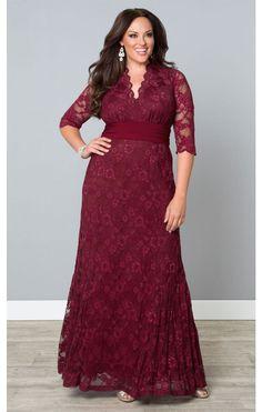 Screen Siren Evening Gown in Rose Wine