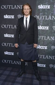 """Actor Sam Heughan attends the Starz Series """"Outlander"""" Premiere - Comic-Con International 2014 at Spreckels Theatre on July 25, 2014 in San Diego, California."""