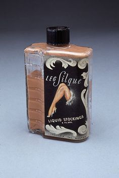 Liquid stockings were a noteworthy enough phenomenon that even the Smithsonian has a bottle in its collection. Leg Silque Liquid Stockings, National Museum of American History.