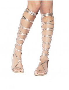 Gladiator Sandals - Knee High Pixie Market @pretentshoes