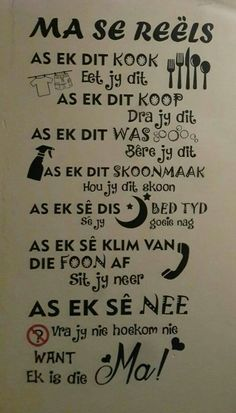 Mama Quotes, Cute Quotes, Qoutes, Sister Poems, Afrikaanse Quotes, Goeie Nag, Life Thoughts, Positive Thoughts, Friendship Quotes