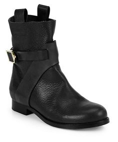 """Chloé gives me the air I breath w/ these stompers! I am always on the lookout for the perfect pair of short black boots, I refuse to use the word """"bootie!!"""" ugh"""