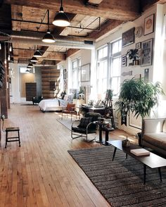 Schoolhouse Electric & Supply Co. | Portland, OR | Michelle Madsen (@michelletakeaim) | #chasingthelight Warehouse Apartment, Warehouse Living, Industrial Loft Apartment, Warehouse Loft, Interior Design Like A Pro, Industrial Interior Design, Industrial Interiors, Interior Design Inspiration, Interior Modern