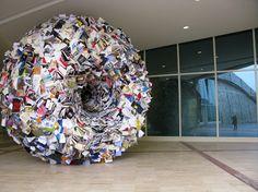 Esculturas de libros, de Alicia Martin (1964)
