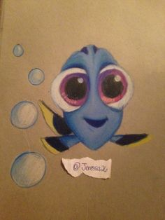 My drawing of baby Dory @jeressa26 on Instagram and Facebook.com/artofjlara