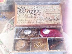 Wax beads and stamps