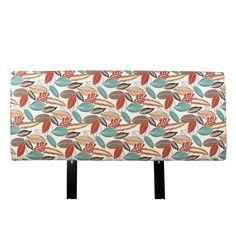 MJL Designs Floral Upholstered Headboard Coral, Size: California King - ALICE-CK-FLORFOLCORL