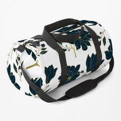 Work Travel, Custom Bags, Flower Prints, Blue Flowers, Gym Bag, Shoulder Strap, Floral Design, Backpacks, Luxury