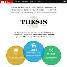 thesis websites wordpress