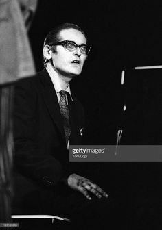 Jazz pianist Bill Evans performs on stage at the Newport Jazz Festival in Newport, Rhode Island in July 1969.