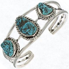 This Ladies Blue Turquoise Bracelet features Kingman AZ stones, Full of matrix, these are spectacular! This is so pretty, you'll want to wear it often! Coral Turquoise, Turquoise Jewelry, Turquoise Bracelet, Thing 1, Native American Tribes, Beautiful Watches, American Jewelry, Pearl Bracelet, Jewelery