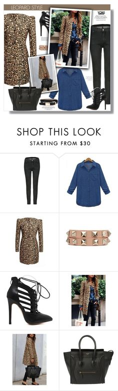 """""""Yoins"""" by clumsy-dreamer ❤ liked on Polyvore featuring Valentino, CÉLINE, women's clothing, women's fashion, women, female, woman, misses, juniors and yoins"""