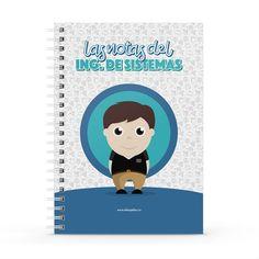 Cuaderno XL - Las notas del ingeniero de sistemas, encuentra este producto en nuestra tienda online y personalízalo con un nombre. Notebook, Cover, Engineer, Notebooks, Report Cards, Store, Cover Pages, The Notebook, Exercise Book