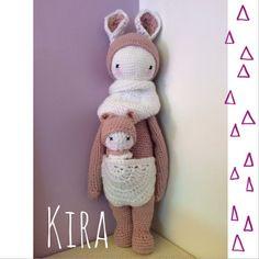KIRA the kangaroo made by Line F. / crochet pattern by lalylala