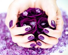 Nail art designs are make your nails pop and give a stylish look. Be creative and imaginative and use right supplies to create the best nail art design. Shellac Nails At Home, Gel Polish Manicure, Manicure E Pedicure, Fun Nails, Posh Nails, Cnd Shellac, Gel Nail, Nail Art Designs, Purple Nail Designs