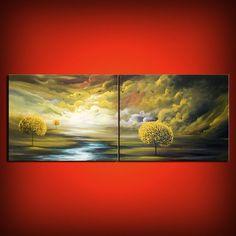Original Gemälde zeitgenössischer Lutscher Baum malen von mattsart