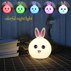USB Touch Table Lamp Silicone Animal Bedside Led Night Light Baby Children Kids Gift Desk Decoration for Bedroom Living Room  #Affiliate
