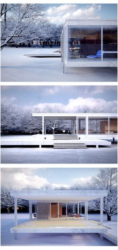Ludwig Mies van der Rohe • Farnsworth House, 1951. Piano, IL