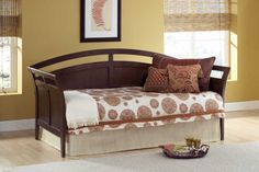 Hillsdale Furniture 1000DBLHTR Watson Daybed, Suspension Deck And Roll Out Trundle Set
