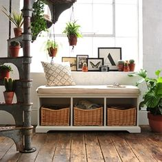 Hall Bench with Cushion image