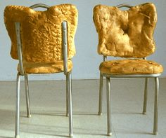 Chairs made out of bread.
