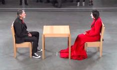 Marina Abramovic and Ulay had an intense love story in the 70s, performing art out of the van they lived in. When they felt the relationship had run its course, they decided to walk the Great Wall of China, each from one end, meeting for one last big hug in the middle and never seeing each other again. In 2010 at MoMa Marina performed 'The Artist Is Present', a minute of silence with each stranger who sat in front of her. Ulay arrived without her knowing it and this is what happened. Click4…