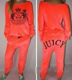 Juicy Couture neon orange tracksuit by Luxury store on Wanelo
