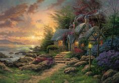 Seaside Hideaway - Thomas Kinkade