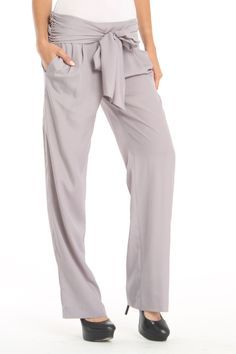 Susana Monaco Sash Pant In Gull...i want some of these