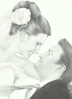 Castle and Beckett pencil drawing