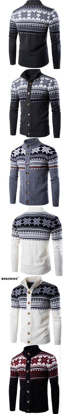 ROKEDISS Jacket Men Jackets Mens spring autumn Padded Casual Knitted Sweater Cardigan Coats Outwear Men Jackets Z053