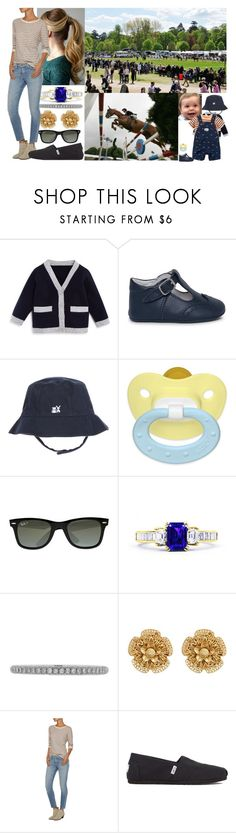 """""""Attending Day Five of the Royal Horse Show on the grounds of Fantast Castle with David"""" by josephineofbaden ❤ liked on Polyvore featuring Bloomie's, Ray-Ban, Lucie Campbell, Miriam Haskell, Current/Elliott and TOMS"""