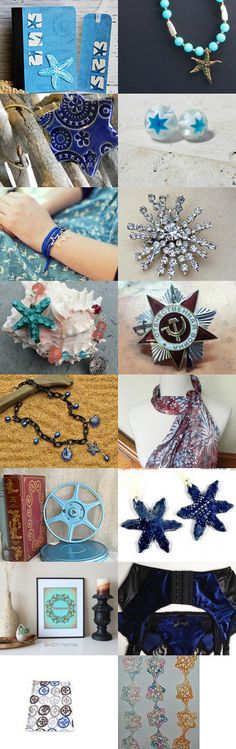 Summer Stars ~ Christmas in July SALE by Laura on Etsy--Pinned+with+TreasuryPin.com #SPSTeam #ETSYCIJ16