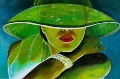 cuadros al oleo de mujeres con sombrero - Buscar con Google