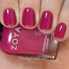 "Zoya Nail Polish: Summer 2015 Island Fun Collection - ""Nana"" is a lush deep magenta creme. So shiny. Great formula on this one as well. Fancy Nails, Love Nails, How To Do Nails, My Nails, One Color Nails, Style Nails, Matte Nails, Acrylic Nails, Zoya Nail Polish"
