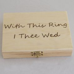 Wedding Ring Box --- A Unique Ring Bearer Pillow Alternative.