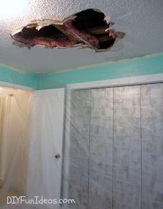 Repairing Ceiling Water Damage In 3 Steps Diy Mobile