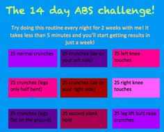Do this 14 day Abs Challenge....Results are inevitable