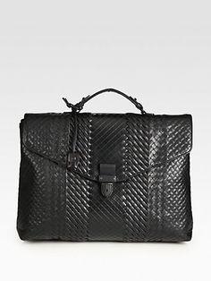 Bottega Veneta  Leather Briefcase $3,900.00