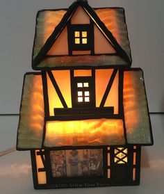 RARE Forma Vitrum Vitreville Stained Glass Gift Collectibles Cottage Art Tour | eBay