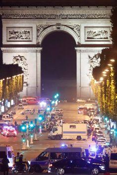 Policeman shot dead in 'terror attack' on the Champs-Élysées in central Paris Paris Terror Attack, Paris Shooting, November 13, Paris City, Times Square, Street, Travel, Viajes, Destinations